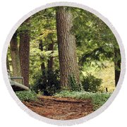 Peaceful Path Round Beach Towel