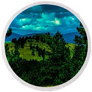 Peaceful Perspective  Round Beach Towel
