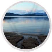 Peaceful Priest Lake Round Beach Towel