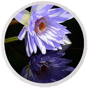Peaceful Reflections Round Beach Towel