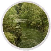 Peaceful River Round Beach Towel