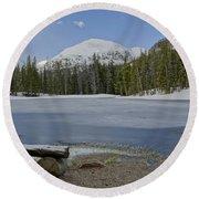 Peaceful Rocky Mountain National Park Round Beach Towel