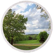 Peaceful Setting Round Beach Towel