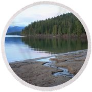 Peaceful Spring Lake Round Beach Towel