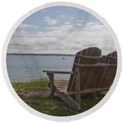 Peaceful Sunday Morning Round Beach Towel