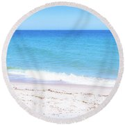 Peaceful Sunny Day Round Beach Towel