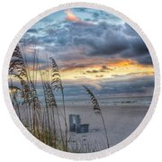 Peaceful Thoughts  Round Beach Towel