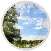 Peaceful View - Bradfield Park 18-37 Round Beach Towel
