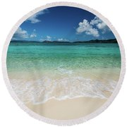 Peaceful Waves Round Beach Towel