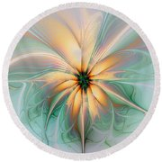 Peach Allure Round Beach Towel