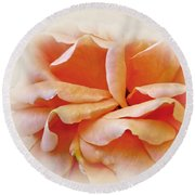 Peach Delight Round Beach Towel by Kaye Menner