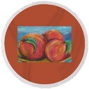 Peaches Round Beach Towel