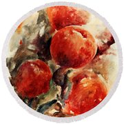 Peaches Round Beach Towel