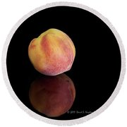 Peachy Round Beach Towel