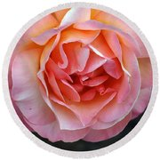 Peachy Rose Round Beach Towel