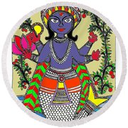 Matsya An Avatar Of Hundi God Vishnu  Round Beach Towel