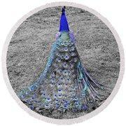 Peacock Plumage Round Beach Towel
