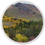 Peak To Peak Highway Boulder County Colorado Autumn View Round Beach Towel