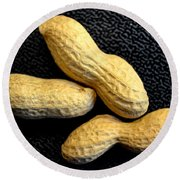 Peanuts For 3 Round Beach Towel