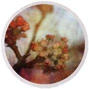 Pear Blossom Sunset 8930 Idp_2 Round Beach Towel