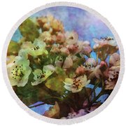 Pear Blossoms 8976 Idp_2 Round Beach Towel