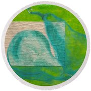 Pear Gem 1 Round Beach Towel