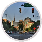 Pearl And Main Street Round Beach Towel