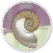 Pearl Nautilus Shell Round Beach Towel