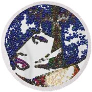 Pearlesqued Woman Round Beach Towel