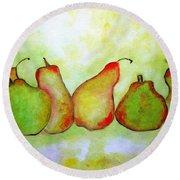 Pears - 2016 Round Beach Towel