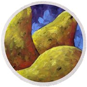 Pears For You Round Beach Towel