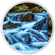Pearsons Falls On Colt Creek Round Beach Towel