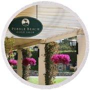 Pebble Beach Golf Shop  Round Beach Towel