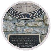 Pebble Beach National Pro-am I Round Beach Towel