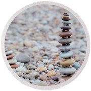 Pebble Stack II Round Beach Towel