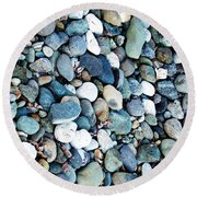 Pebbles 03 Round Beach Towel