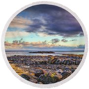 Pebbles And Sky  #h4 Round Beach Towel by Leif Sohlman