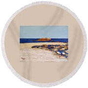 Pedersen Beach Lake Superior Round Beach Towel