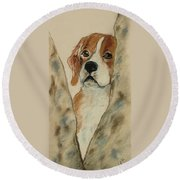 Peek A Boo Round Beach Towel