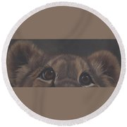Peek-a-boo Round Beach Towel