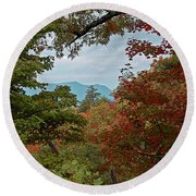 Peeking At The Smokies Round Beach Towel