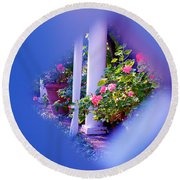 Peeping Trough The Fence Round Beach Towel