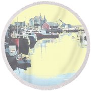 Peggy Round Beach Towel