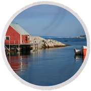 Peggys Cove Round Beach Towel