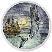 Pehe Nu-e: Moby Dick Round Beach Towel