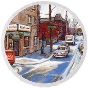 Peintures De Montreal Paintings Petits Formats A Vendre Restaurant Machiavelli Best Original Art   Round Beach Towel