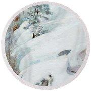 Pekka Halonen, Winter Landscape Round Beach Towel