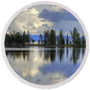 Pelican Bay Morning Round Beach Towel