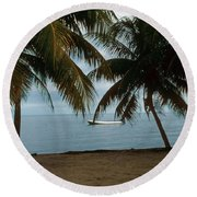 Pelican Beach Belize Round Beach Towel