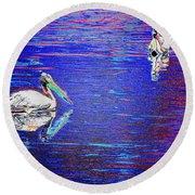 Pelican Mates 2 Round Beach Towel